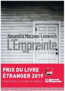Couverture de L'empreinte d'Alexandria Marzano-Lesnevich