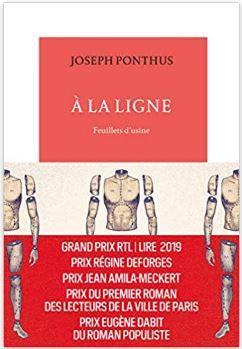 Couverture de A la ligne : Feuillets d'usine de Joseph Ponthus