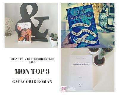 Top 3 romans Grand prix des lectrices Elle 2020