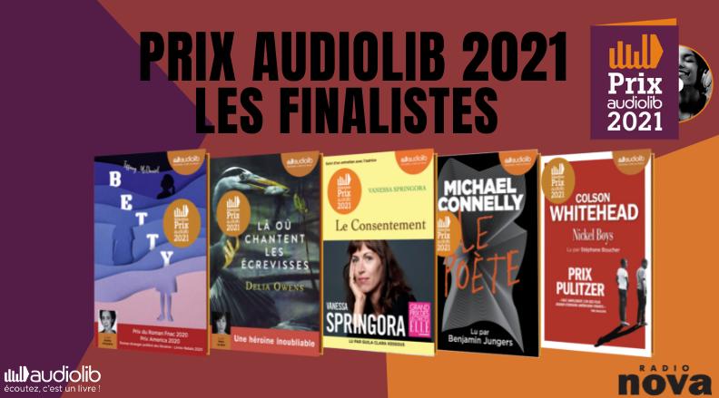 Les 5 finalistes du Prix Audiolib 2021