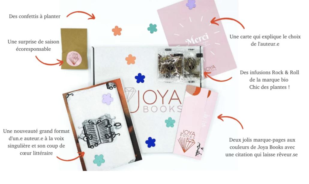 Contenu d'une box Joya Books